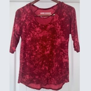 VANS OFF THE WALL RED CUTOUT SCOOP NECK XL